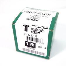 60581030 Button Head Socket Cap Screw, #6-32 UNC, QTY 100, Alloy Steel, 5882zBC3