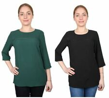 Atmosphere Crew Neck Hip Length Tops & Shirts for Women