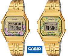 CASIO LA680WEGA-4CEF*LA680WEGA-9CEF*LA680WEGA-4C*LA680WEGA-9C*MUJER*FLORES*GOLD