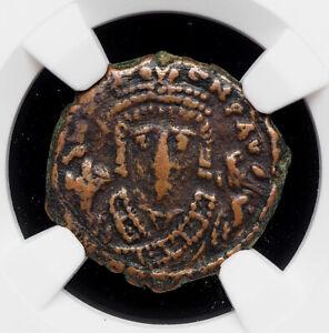 BYZANTINE. Maurice Tiberius. 582-602. Æ Decanummium, Antioch, NGC VF