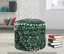 Hippie Star Print Cotton Floor Poufs Cover Mandala Ottomans Cover Hippie Indian