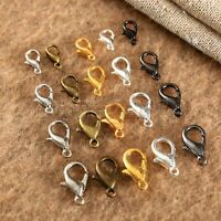 100pcs Gold Tone Alloy Lobster Clasps Hooks DIY Accessories Craft Findings 51964