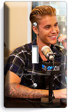 JUSTIN BIEBER SEXY RADIO INTERVIEW ON AIR SINGLE LIGHT SWITCH WALL PLATE COVER