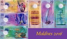 MALDIVE - Maldives Lotto 3 banconote 10/20/50 Rufiyaa 2016 Polymer FDS - UNC