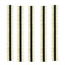 5 Pcs Plastic 2.45mm Pitch 40 Position Single Row Round Male Pin Header  LW SZUS