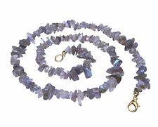 LABRADORITE Splitter Chain With Carabiner Clasp GEMSTONE Healing Stone 45 Cm