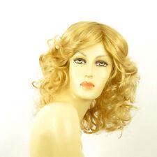 mid length wig for women curly light blond golden ref: FLO lg26  PERUK
