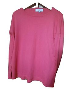 NEXT PINK SWEATER WOMENS STRETCHY THIN JUMPER PULLOVER XS 8 10 S