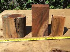 "3 Reclaimed Wax Sealed Ready To Turn Curly Koa Wood Bowl Blanks 6-10""x3-7x2-5"""