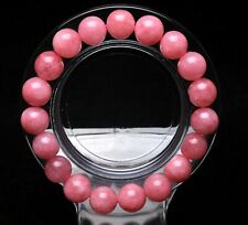 10.5mm Natural Rose Ice Rhodochrosite Gemstone Beads Love Bracelet AAAAA