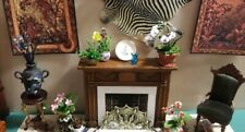 1:24 scale dollhouse miniature bronze intricately decorated fireplace screen