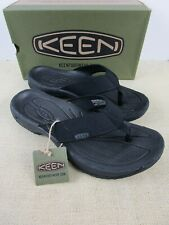 KEEN KONA FLIP 1018490 BLACK/STEEL GREY MENS FLIP FLOP NEW