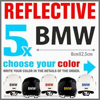 5x Black Reflective BMW R1200 1150 F800 F650 F700 GS A STICKERS ADESIVI PEGATINA