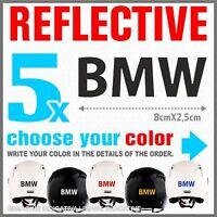 5x Black Reflective BMW R1200 1150 F800 F650 F700 GS A STICKERS ADESIVI PEGATINA