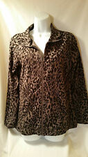SOMA Live Lounge Wear Long Sleeve Top in Animal Print Size Medium Excellent Cond