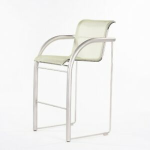 Prototype Richard Schultz 2002 Collection Stainless Bar Stool with Outdoor Mesh