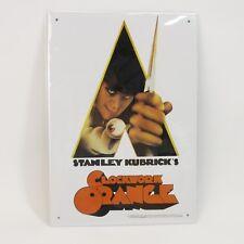 "A Clockwork Orange Metal Tin Sign 8x11.5"" Wall Hanging Stanley Kubrick Plaque"