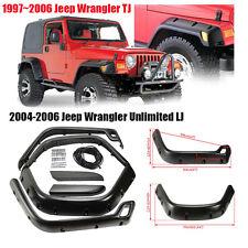 6 Piece POCKET Rivet Style Protector Fender Flares For 97-06 Jeep Wrangler TJ
