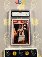 1989 Fleer Scottie Pippen #23 - 9 MINT GMA Graded Basketball Card