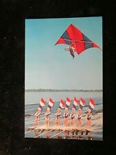 POSTCARD. CYPRUS GARDENS WATER SKIERS AND KITE, FLORIDA