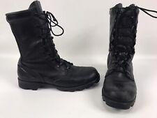 Vintage RO-SEARCH Military Combat Paratrooper Biker Black Leather Boots Men's 6R
