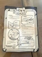 Vintage Star Wars Kenner 1977 X-Wing Fighter Original Instruction