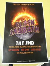 Black Sabbath 11x17 The End tour concert poster Ozzy Osbourne tickets
