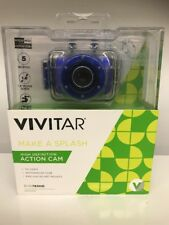 VIVITAR DVR781HD IMAGING ACTION CAM •COBALT BLUE •NIP! •MAKE A SPLASH!