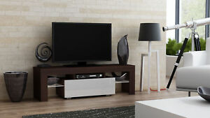 Milano 130 - wenge tv stand with shelves / small living room tv stand cabinet