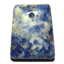 P2434 Blue & White Sodalite 30mm Tapered Rectactangle Trapezoid Gemstone Pendant