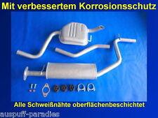 Abgasanlage, Auspuff, Ford Mondeo III 2.0i 16V Tunier / Kombi (TYP BWY) + Kit