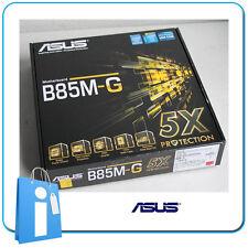 Platte Hauptplatine mATX B85 ASUS B85M-G Socket / Buchse 1150 mit Zubehör