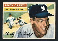 Andy Carey - 1956 Topps Baseball Card # 12 - New York Yankees Third Baseman