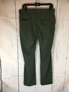 """Under Armour Golf Pants Men 34"""" Waist 30"""" Ins Loose Polyester Blend Green"""