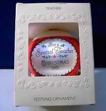 Hallmark 1981 For A Special Teacher Keepsake Christmas Ball Ornament