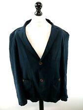 FARAH Mens Blazer Suit Jacket 44 Navy Blue Cotton