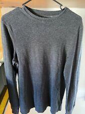 Helix Mens Medium Black Long Sleeve Sweatshirt Sweater Pullover Shirt