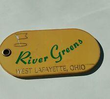 River Greens Course Golf Bag Tag West Lafayette Ohio Member 1981 McQuiston