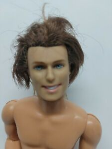 Barbie Ken Doll Nude Articulated  Mattel 1997 rooted Brown hair (AS IS)