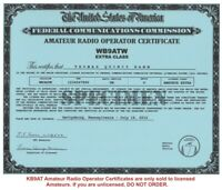 Amateur Radio *Amateur Radio License Certificates* *Ham Radio*
