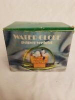 Vintage 1974 Peanuts Snoopy Dan Dee Water Globe Paperweight