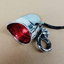 Chrome Turn Light with Turn Signal Lamp Adapter Mount Clamp For Harley Kawasaki
