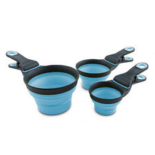 Dexas Popware Collapsible KlipScoop Food Clip Small Large 8oz 16oz Blue Green