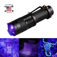 UV Ultra Violet Flashlight Blacklight Light 395/365 nM Inspection Lamp Torch New