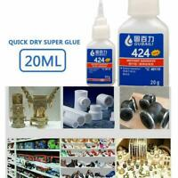 20ml Super Glue Professional Instant Adhesive For Metal Wood Shoes Plastic Z6L0