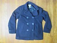 LL Bean Peacoat 8 Reg Bellandi Italian  Wool Navy Pea Coat Jacket $279 Retail