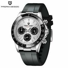 Luxury PAGANI DESIGN Watch Men Japan Quartz Wrist Watch Rubber Band Chronograph