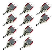 10 x On/Off/On Mini Toggle Switch Car Motor Dash Dashboard SPDT 3Pin Sales