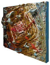 ORIGINAL█OIL█PAINTING█BASEL█SCULPTURE ART█PAINT█FOLK█ABSTRACT█POP█3D█IMPASTO A A