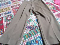ladies brown trousers size 18